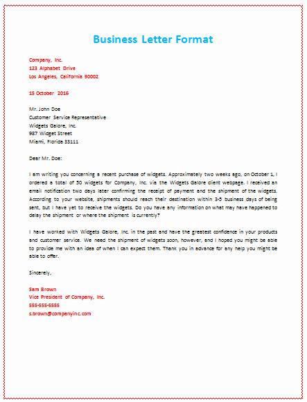 Format for A Business Letter Awesome 60 Business Letter Samples & Templates to format A