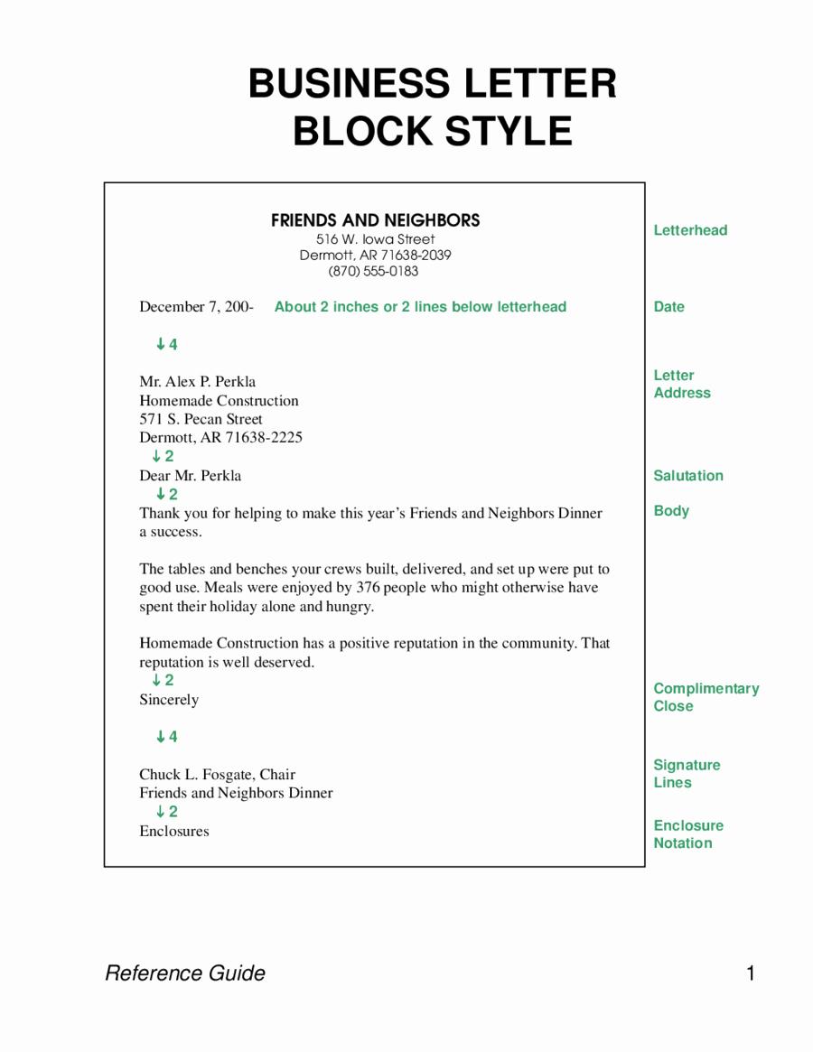 Format for A Business Letter Elegant formal Letter Sample Business Letterblocks Style Edit