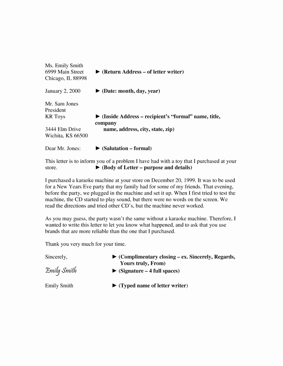 Format for A Business Letter Lovely 35 formal Business Letter format Templates & Examples