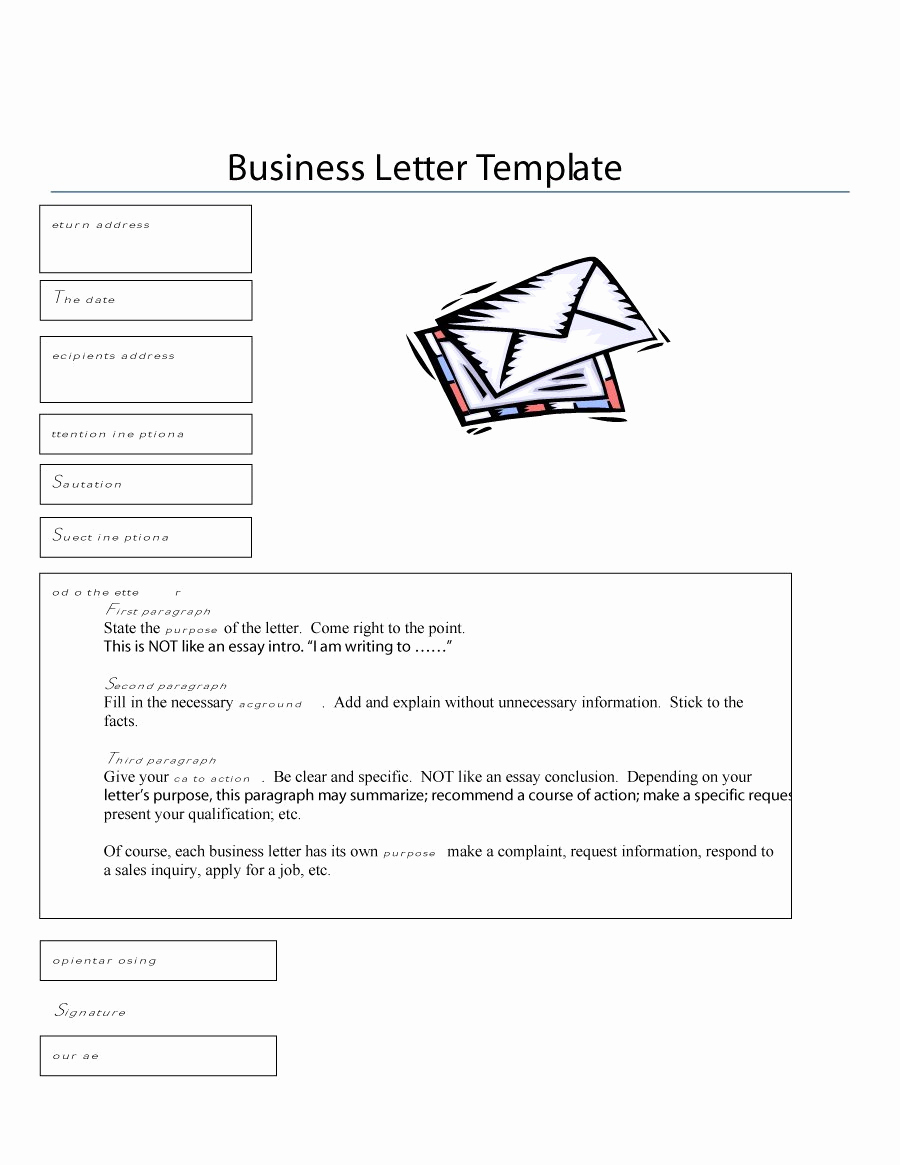 Format for A Business Letter Unique 35 formal Business Letter format Templates & Examples