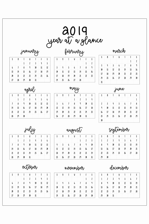 Free 2019 Calendar Template Elegant 2019 Printable Calendar