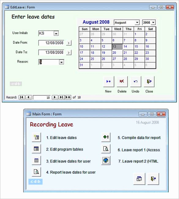 microsoft access template
