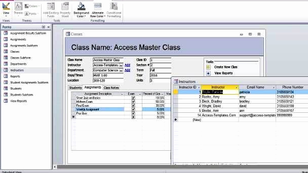Free Access Database Templates New Download Student Database Microsoft Access Templates