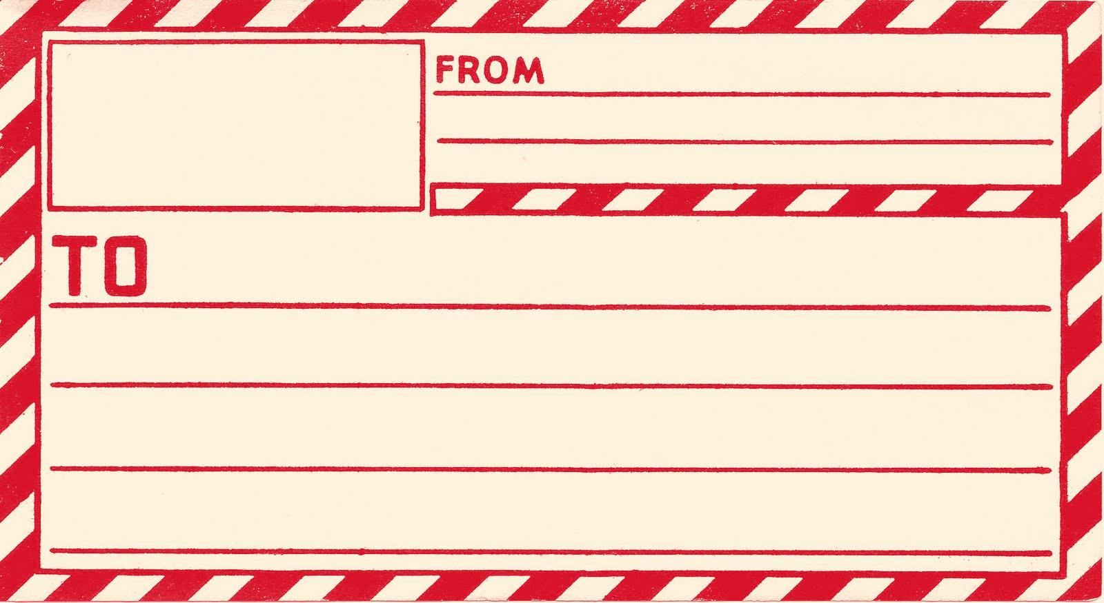 Free Address Labels Samples Beautiful Vintage Clip Art Old Gummed Parcel Post Label the