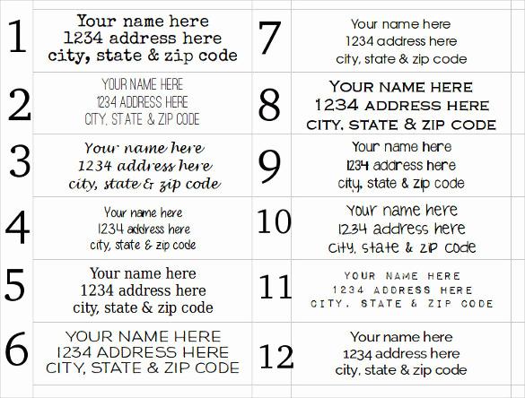 Free Address Labels Samples Inspirational Address Label Template – 31 Free Eps Ai Illustrator