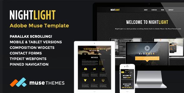 Free Adobe Muse Templates Inspirational Nightlight