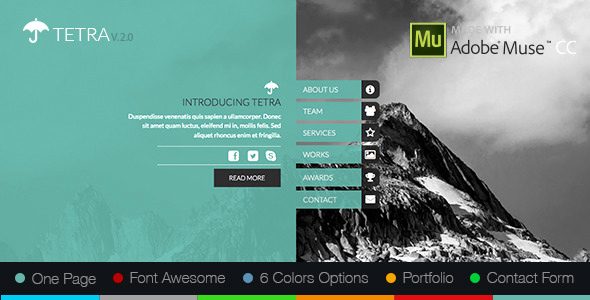 Free Adobe Muse Templates New 12 Adobe Muse Templates to Download