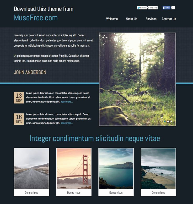 Free Adobe Muse Templates Unique 1000 Images About Adobe Muse Free themes On Pinterest