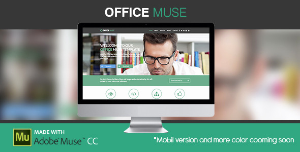 Free Adobe Muse Templates Unique Fice Muse Adobe Muse Template by Za Ic
