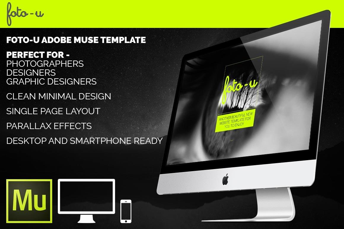 Free Adobe Muse Templates Unique Foto U Adobe Muse Template Website Templates
