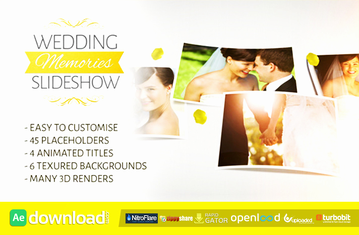 Free after Effects Slideshow Templates Best Of Wedding Memories Slideshow Free after Effects Project