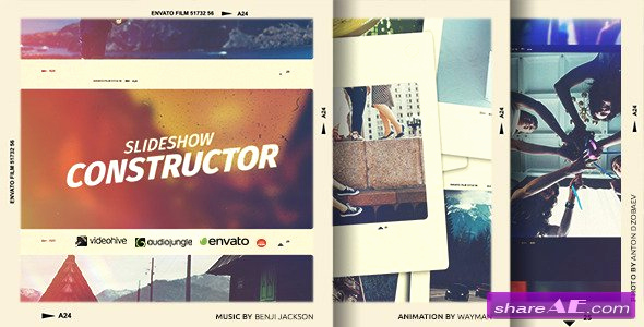 Free after Effects Slideshow Templates Elegant Slideshow Constructor after Effects Project Videohive