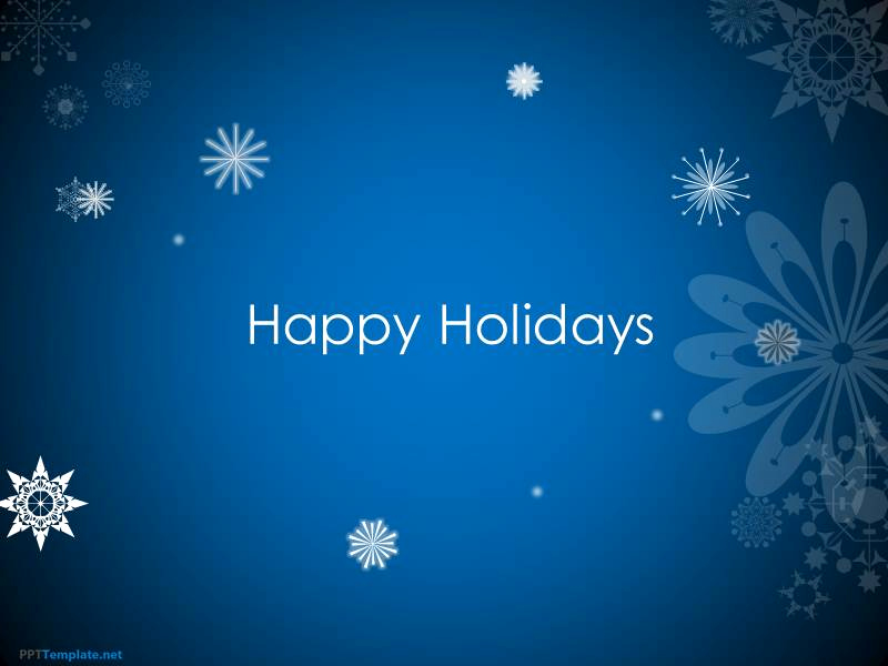 Free Animated Powerpoint Templates Beautiful Free Animated Happy Holidays Ppt Template