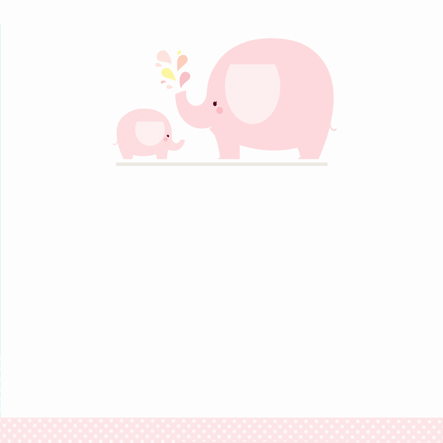 Free Baby Shower Templates Awesome Pink Baby Elephant Free Printable Baby Shower Invitation