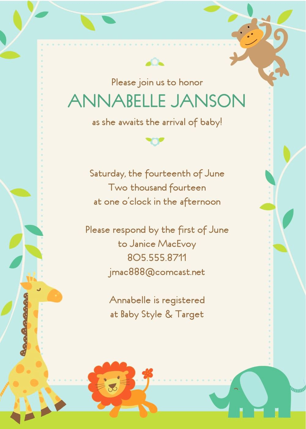Free Baby Shower Templates Elegant Free Baby Shower Invitations Templates Template Cebacanada