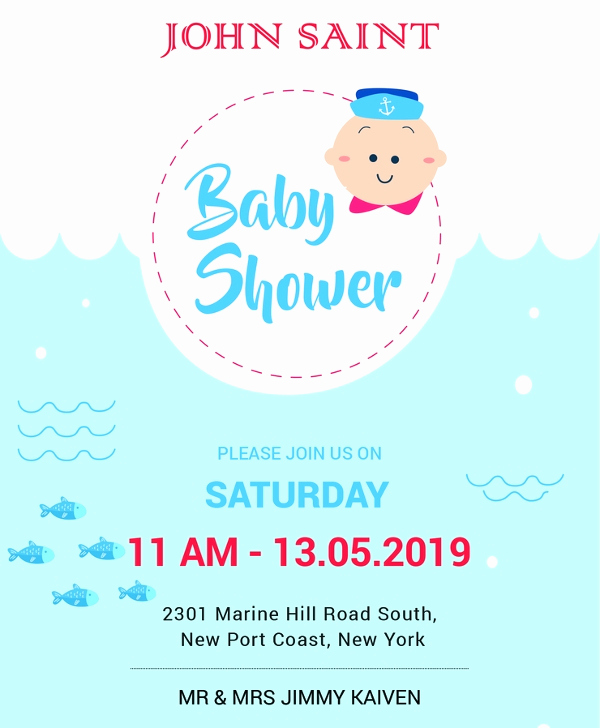 Free Baby Shower Templates Fresh 59 Unique Baby Shower Invitations