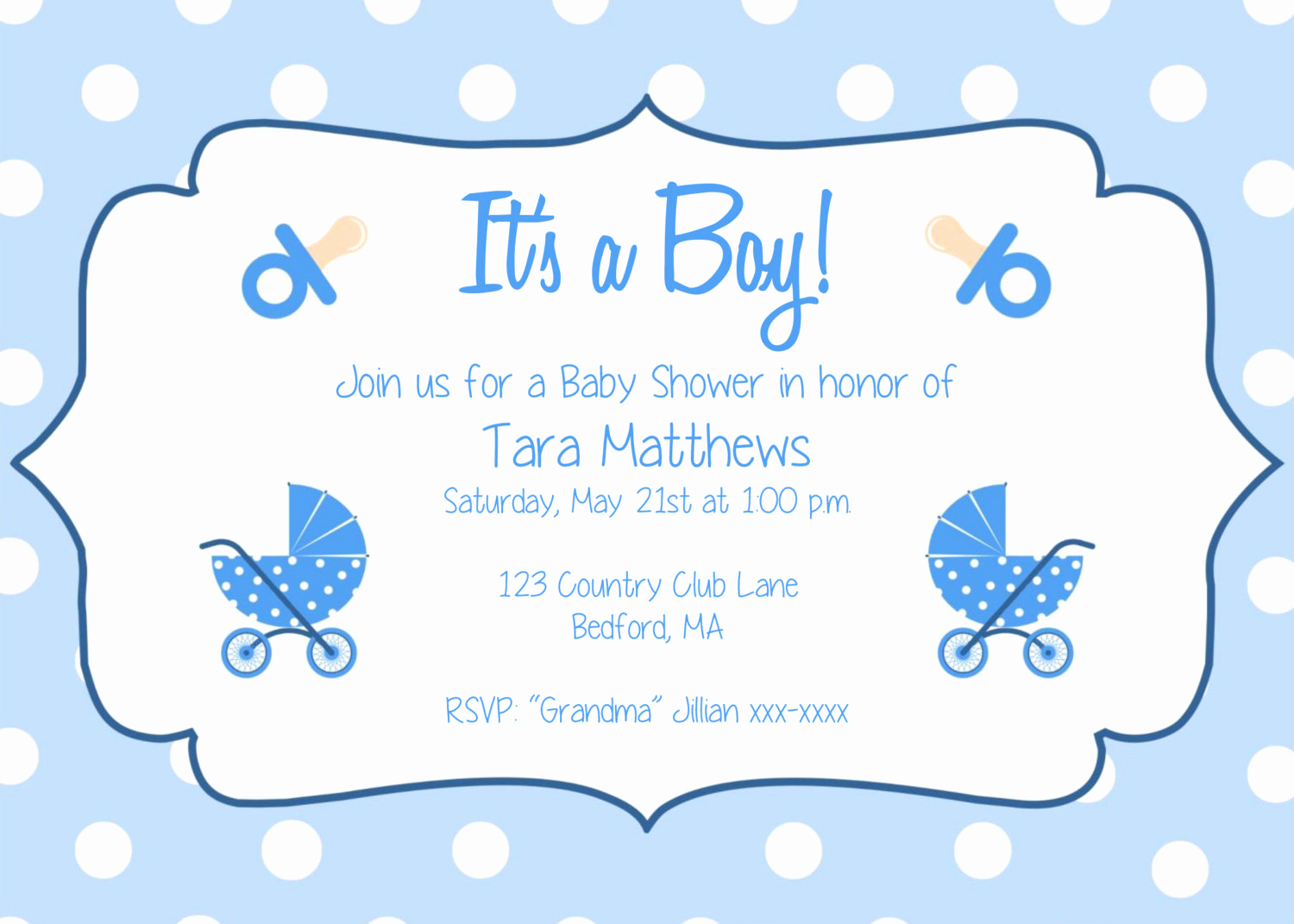 Free Baby Shower Templates New Baby Shower Invitations for Boys Free Templates