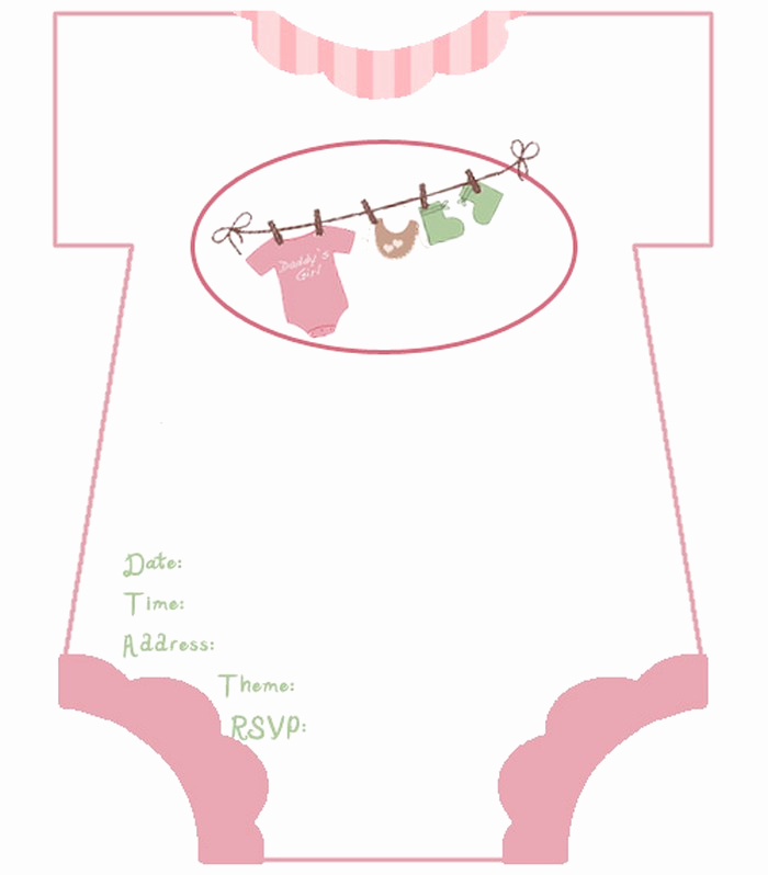 Free Baby Shower Templates New Diaper Baby Shower Invitations Free Template