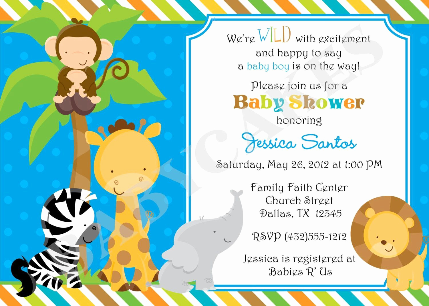 Free Baby Shower Templates New Free Jungle Invitation Template