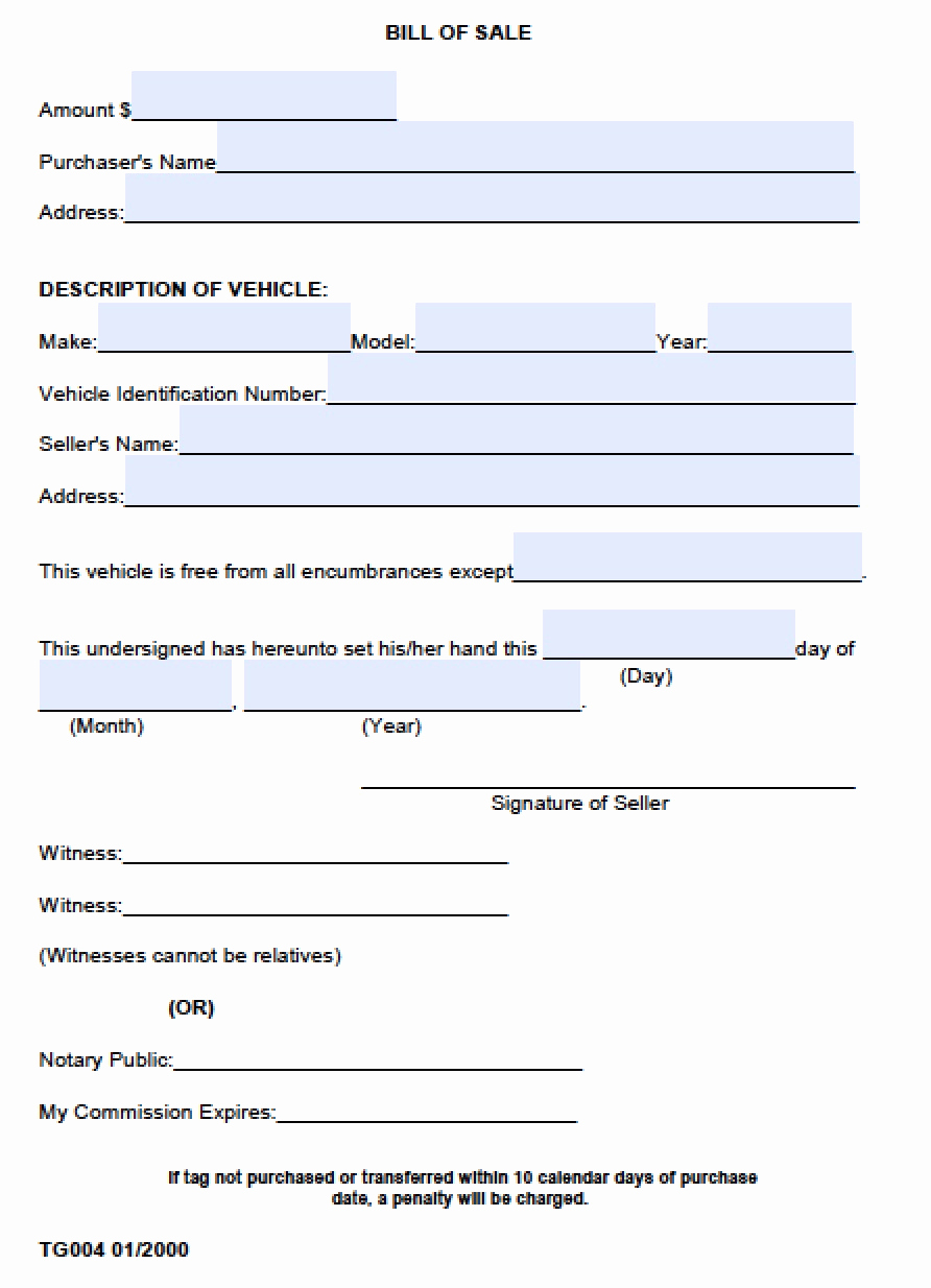 Free Bill Of Sale Pdf Elegant Free Madison County Alabama Bill Of Sale form