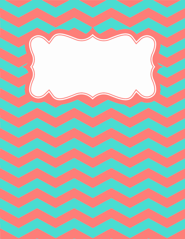 Free Binder Cover Templates Fresh Free Printable Coral and Teal Chevron Binder Cover