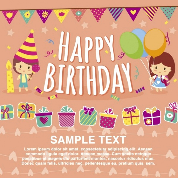 Free Birthday Card Templates Awesome 32 Kids Birthday Invitations & Ideas Psd Vector Eps