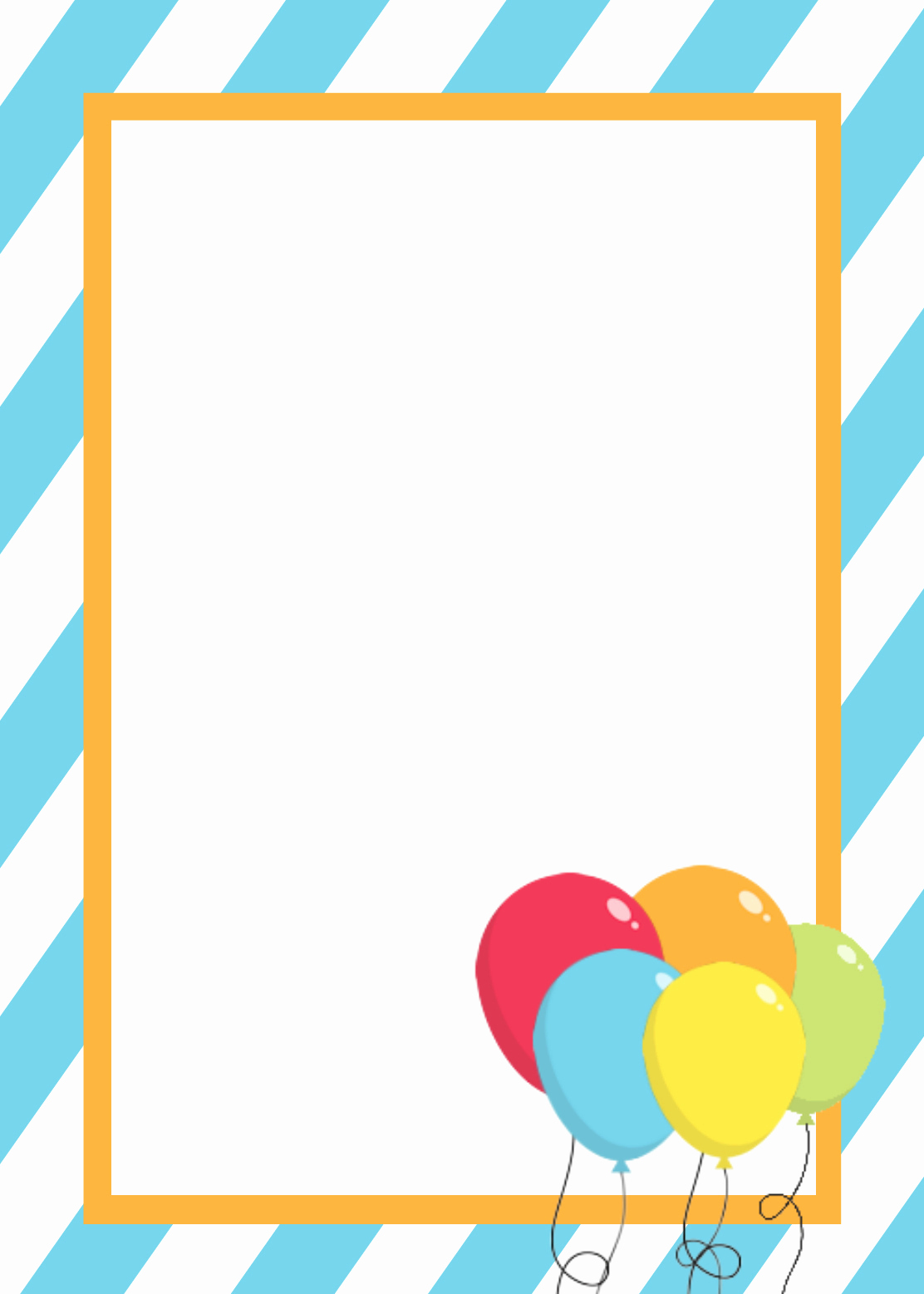 Free Birthday Card Templates Fresh Free Printable Birthday Invitation Templates