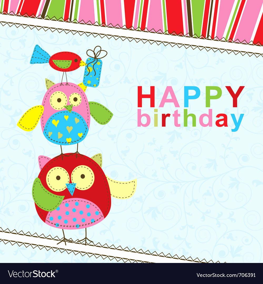 Free Birthday Card Templates Inspirational Template Birthday Greeting Card Royalty Free Vector Image