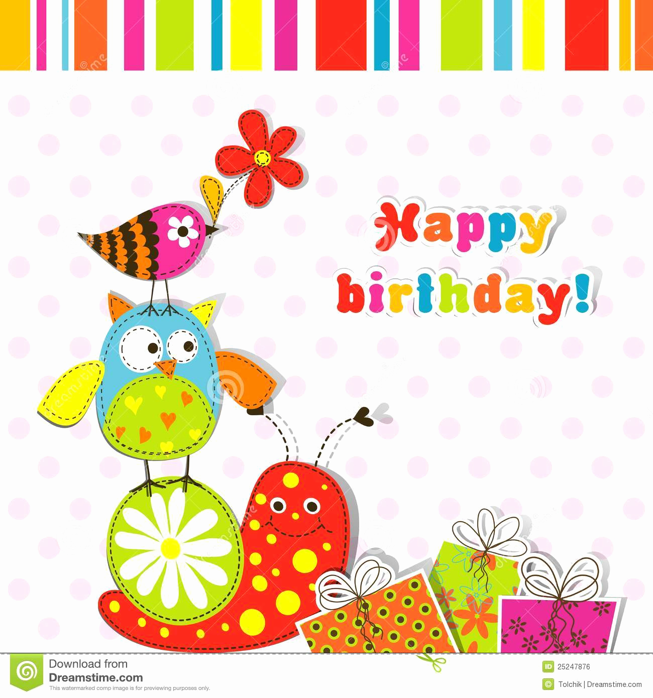 Free Birthday Card Templates Unique Template Greeting Card Stock Vector Illustration Of