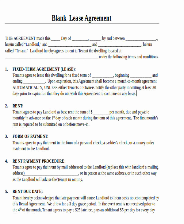 Free Blank Lease Agreement Beautiful 19 Printable Lease Agreement Templates Word Pdf Pages