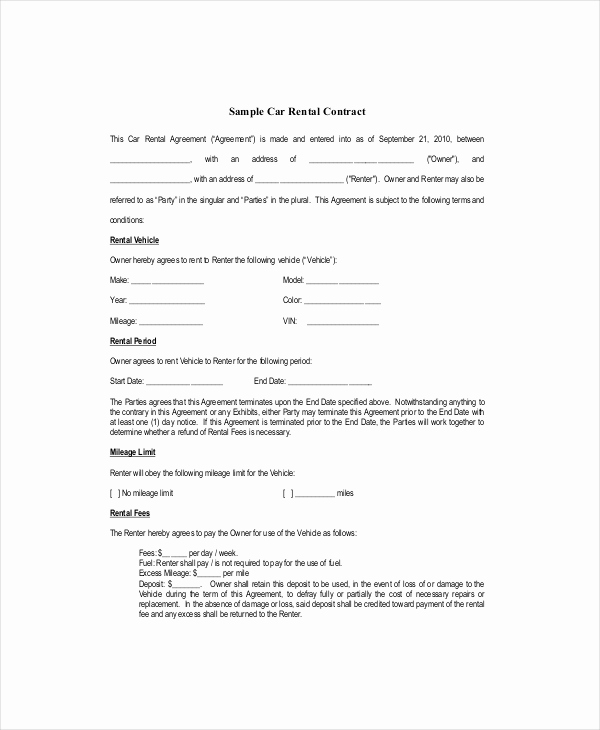 Free Blank Lease Agreement New Blank Lease Template 6 Free Word Pdf Documents