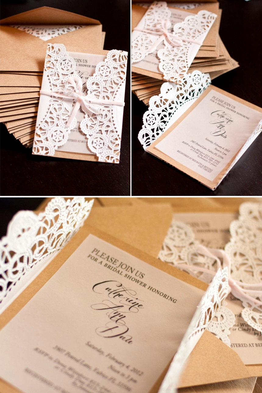 Free Bridal Shower Invitations Awesome Elegant Country Bridal Shower Invitations Tutorial