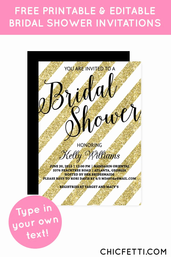 Free Bridal Shower Invitations Beautiful 25 Best Ideas About Glitter Bridal Showers On Pinterest