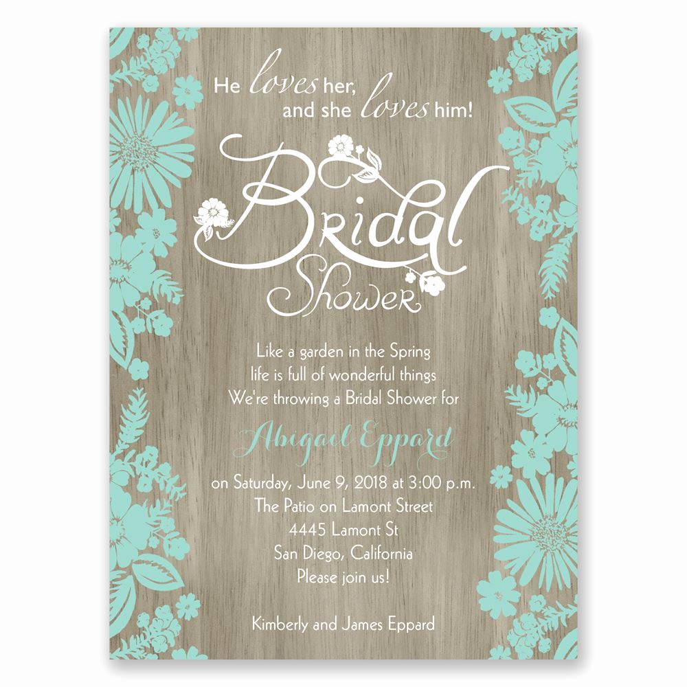 Free Bridal Shower Invitations Inspirational Flowers and Woodgrain Petite Bridal Shower Invitation