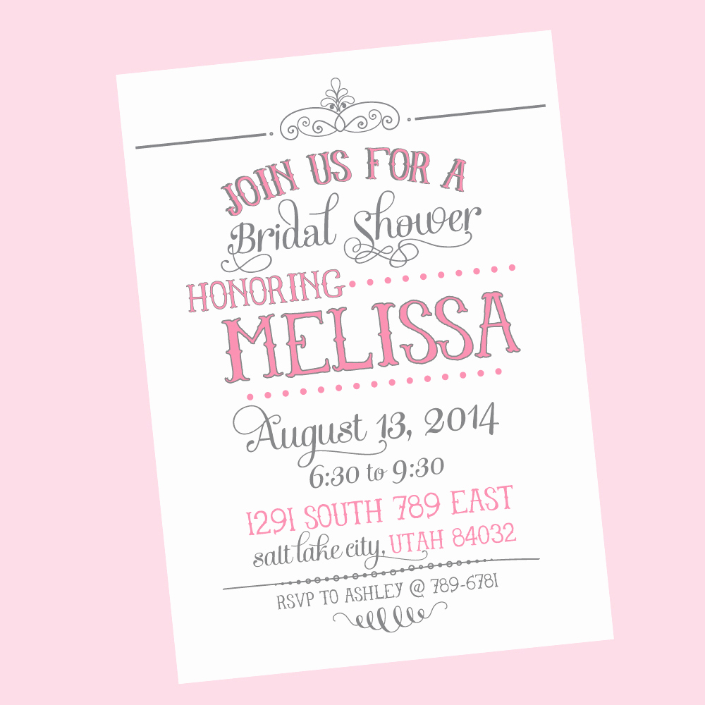 Free Bridal Shower Invitations Luxury Free Printable Wedding Shower Invitations Templates