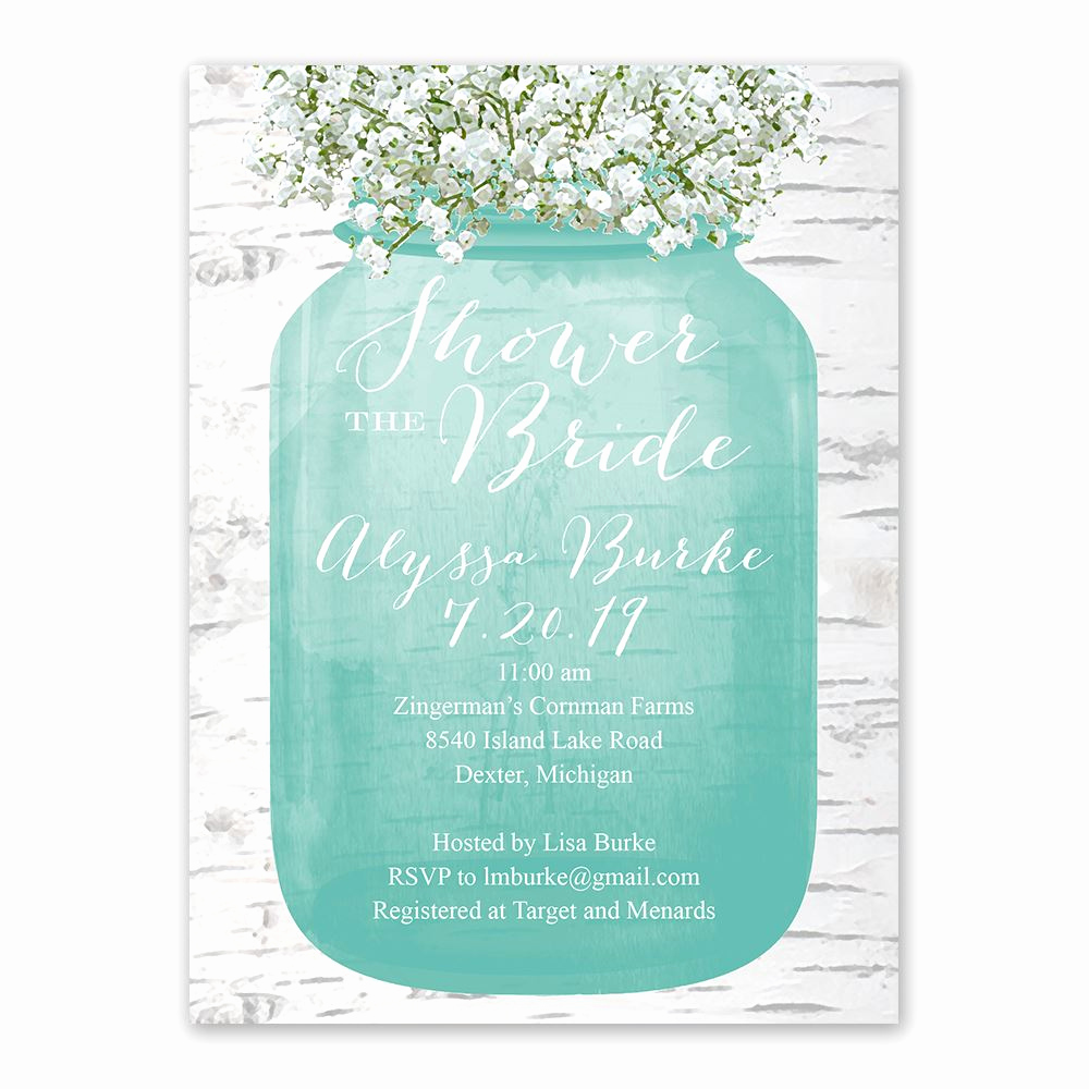 Free Bridal Shower Invitations New Babys Breath Bridal Shower Invitation