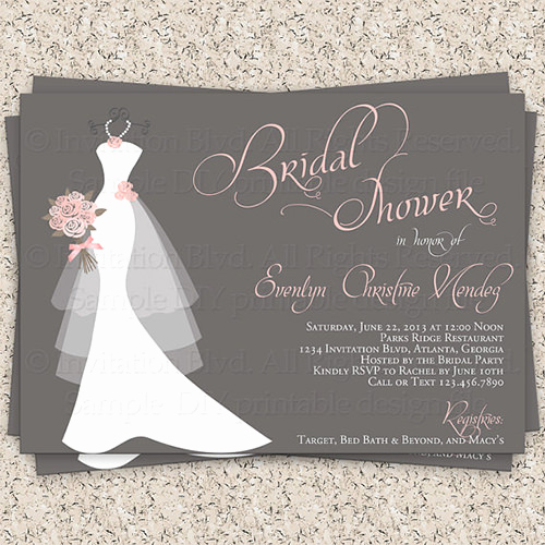 Free Bridal Shower Invitations Unique 33 Psd Bridal Shower Invitations Templates