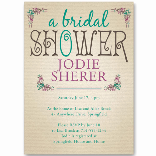 Free Bridal Shower Invitations Unique Affordable Vintage Bridal Shower Invitations Ewbs040 as