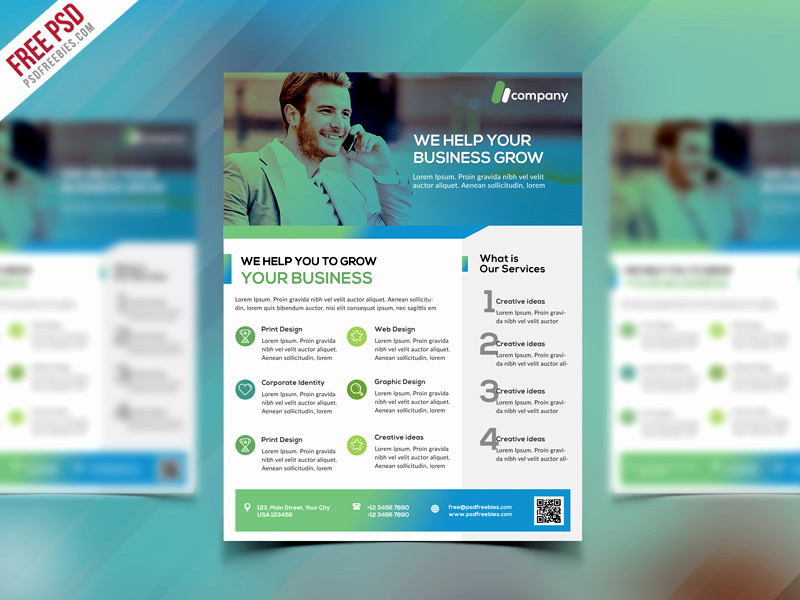 Free Business Flyer Templates Best Of Clean Business Flyer Template Free Psd by Psd Freebies