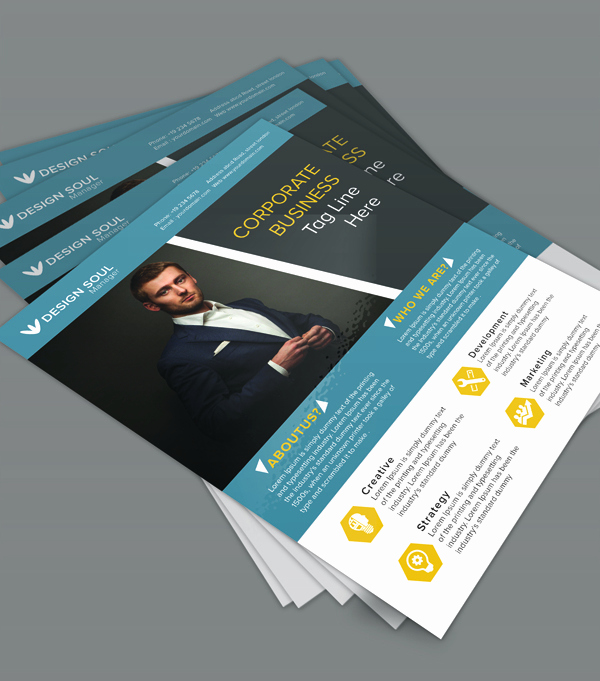 Free Business Flyer Templates Elegant Free Corporate Business Flyer Psd Template