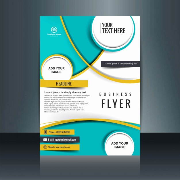 Free Business Flyer Templates Inspirational Business Flyer Template with Circular Shapes Vector