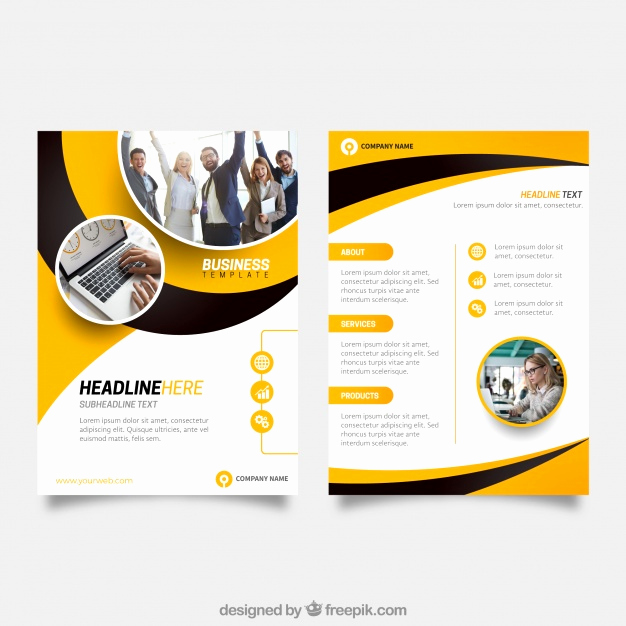 Free Business Flyer Templates Luxury Yellow and Black Business Flyer Template Vector