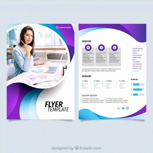 Free Business Flyer Templates New Template Line Vectors S and Psd Files