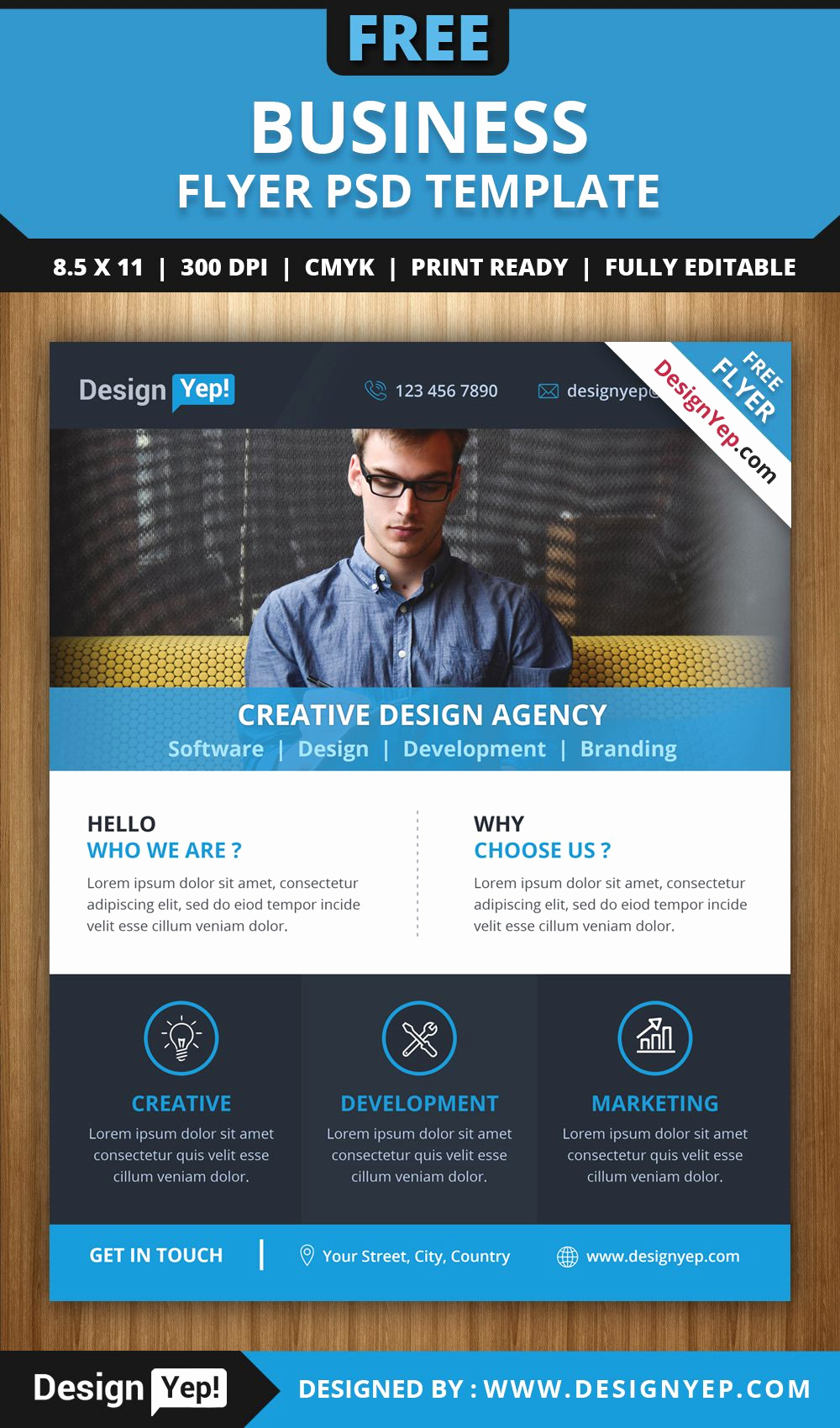 Free Business Flyer Templates Unique Free Business Flyer Psd Template 6666 Designyep