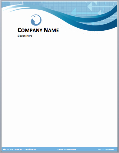 Free Business Letterhead Templates Inspirational Business Pany Letterhead Template Free Small Medium