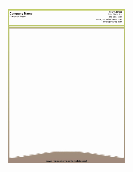 Free Business Letterhead Templates Luxury A Printable Letterhead Design with A Thin Olive Green