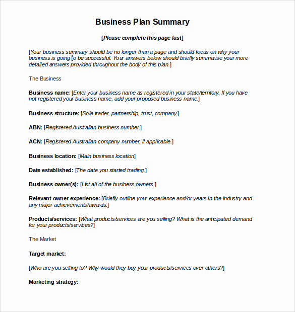 Free Business Plan Template Word Best Of Sample Business Action Plan – 13 Examples In Word Pdf format