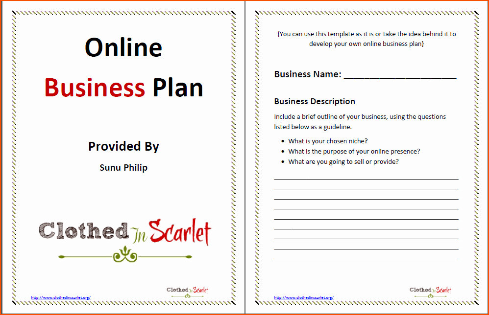 Free Business Plan Template Word Luxury 8 Business Plan Template Word Bookletemplate