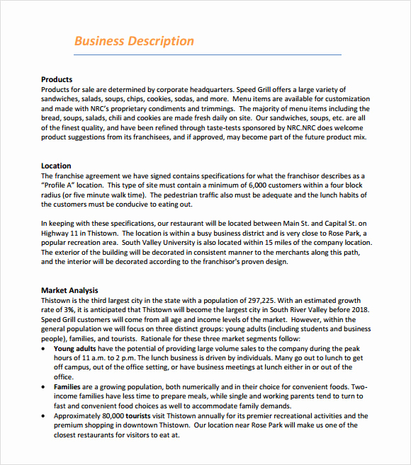 Free Business Plan Template Word Unique Restaurant Business Plan Template 20 Download Documents
