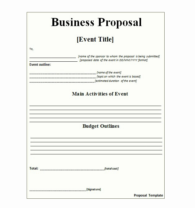 Free Business Proposal Template Fresh 30 Business Proposal Templates & Proposal Letter Samples